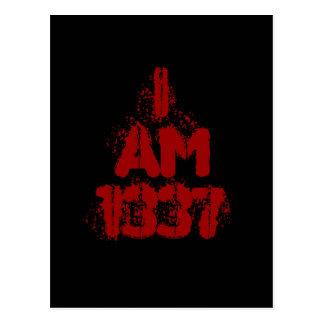 Soy 1337. Texto de color rojo oscuro. Gamer. de Postal