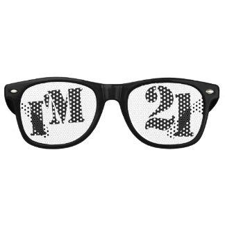 Soy 21 - 21ro regalo de la mordaza de los vidrios lentes de fiesta