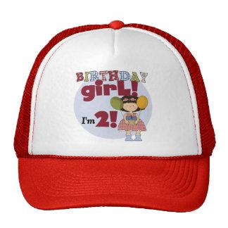 Soy 2 camisetas y regalos del chica del cumpleaños gorra