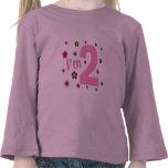 """""""Soy 2"""" rosa y las flores de Brown Camiseta"""