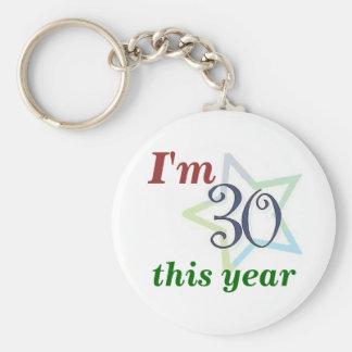 Soy 30 este año llavero redondo tipo pin