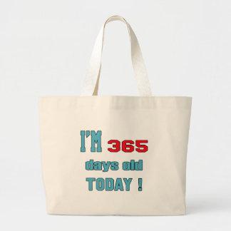 ¡Soy 365 días de viejo hoy! Bolsa Tela Grande