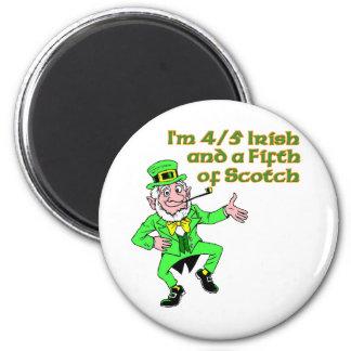Soy 4/5 irlandés y un quinto de escocés imán redondo 5 cm