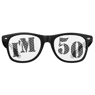 Soy 50 - 50.o regalo de la mordaza de los vidrios lentes de fiesta