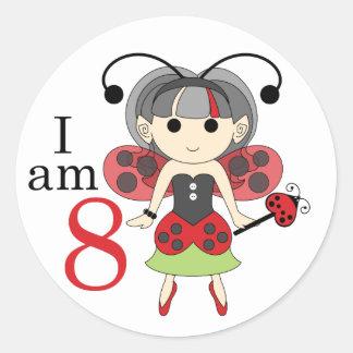 Soy 8 pegatinas del círculo del cumpleaños de la pegatinas redondas