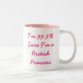 Soy 99,9% seguros yo soy princesa británica Mug Tazas De Café