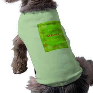¡Soy A, rescatada, perro! Playera Sin Mangas Para Perro