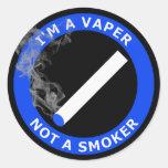 Soy A VAPER, NO FUMADOR Etiqueta Redonda