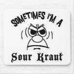 Soy a veces un alemán amargo de Kraut Alfombrillas De Raton
