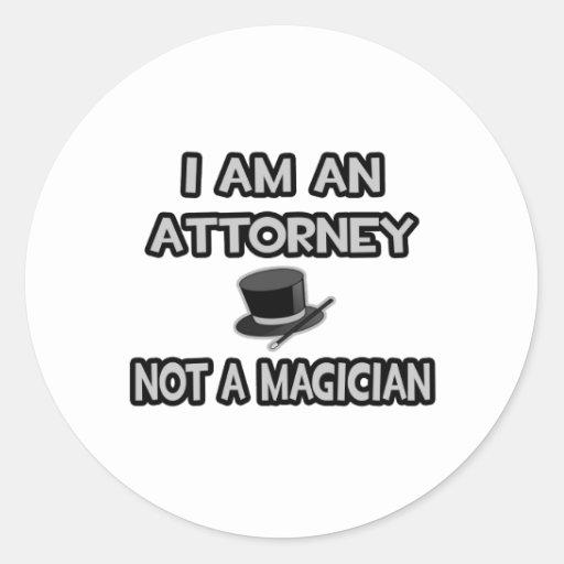 Soy abogado… no un mago pegatina redonda