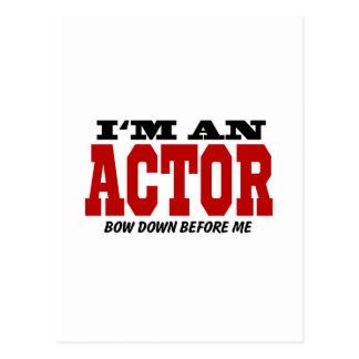 Soy actor arqueo abajo antes de mí tarjeta postal