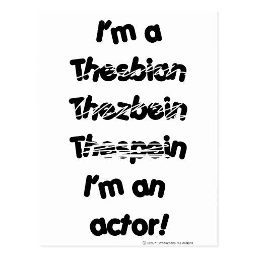 Soy actor (para los productos de color claro) postales