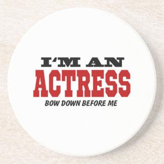 Soy actriz arqueo abajo antes de mí posavasos cerveza