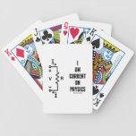 Soy actual en la física (la ley de ohmio) barajas de cartas