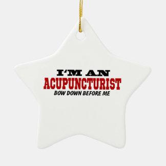 Soy Acupuncturist arqueo abajo antes de mí Adorno Navideño De Cerámica En Forma De Estrella