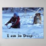 Soy adentro profundo. (niño y perro) poster