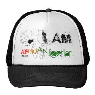 SOY, AF, RIC, A, nigeriana Gorras
