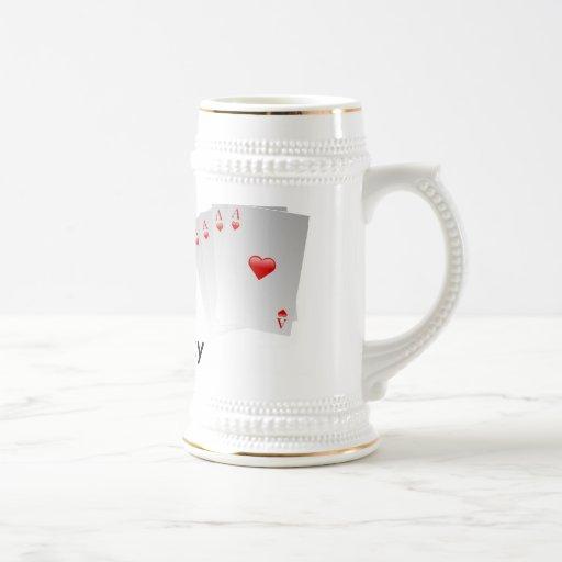 Soy afortunado taza de café