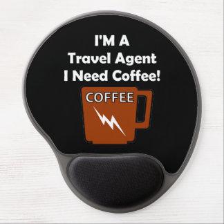 ¡Soy agente de viajes, yo necesito el café! Alfombrilla Gel
