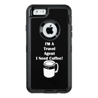 ¡Soy agente de viajes, yo necesito el café! Funda OtterBox Defender Para iPhone 6