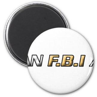 Soy agente del FBI Imán Redondo 5 Cm