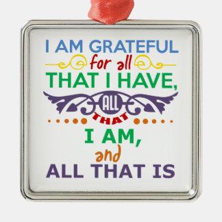 Soy agradecido adornos de navidad