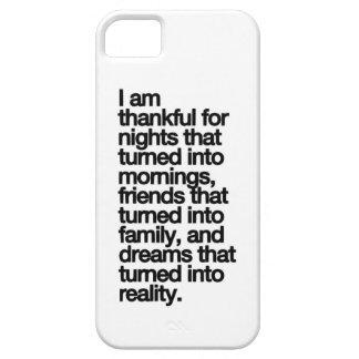Soy agradecido iPhone 5 funda