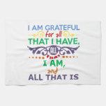 Soy agradecido toallas de mano