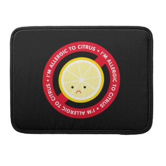 ¡Soy alérgico a la fruta cítrica! Funda Para Macbook Pro