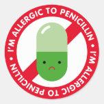 ¡Soy alérgico a la penicilina! Alergia de la penic Etiquetas