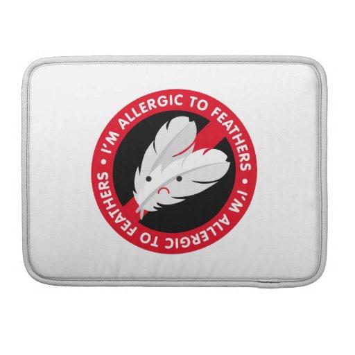 ¡Soy alérgico a las plumas! Alergia de la pluma Funda Macbook Pro