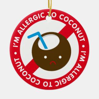 ¡Soy alérgico a los cocos Alergia del coco Ornamento Para Arbol De Navidad
