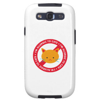 ¡Soy alérgico a los gatos! Alergia de gato Samsung Galaxy S3 Funda
