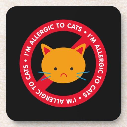 ¡Soy alérgico a los gatos! Alergia de gato Posavaso