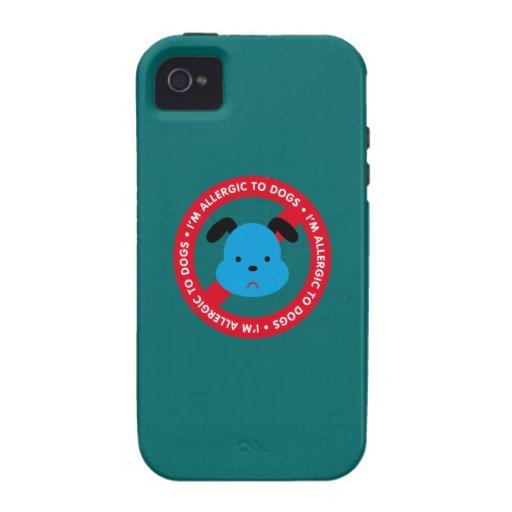 ¡Soy alérgico a los perros! Alergia del perro Vibe iPhone 4 Funda