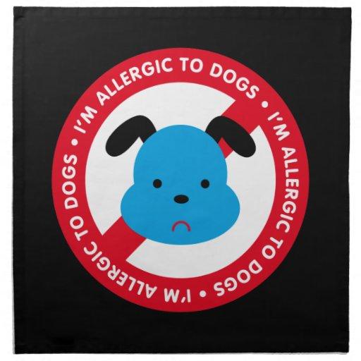 ¡Soy alérgico a los perros! Alergia del perro Servilletas De Papel