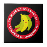 ¡Soy alérgico a los plátanos! Alergia del plátano Azulejo Ceramica