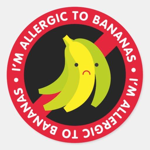 ¡Soy alérgico a los plátanos! Alergia del plátano Pegatina Redonda