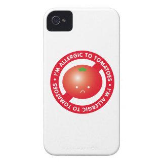 ¡Soy alérgico a los tomates! Alergia del tomate iPhone 4 Case-Mate Carcasa