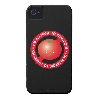 ¡Soy alérgico a los tomates! Alergia del tomate iPhone 4 Case-Mate Protectores
