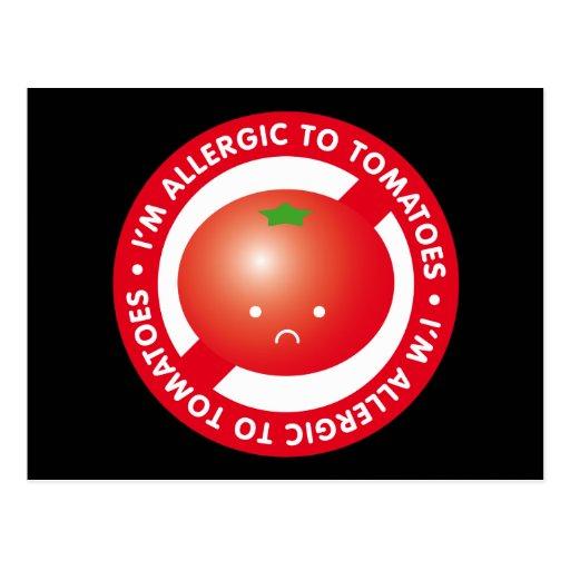 ¡Soy alérgico a los tomates! Alergia del tomate Tarjeta Postal