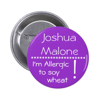 Soy alérgico al botón de la alergia del trigo de l pin redondo de 2 pulgadas