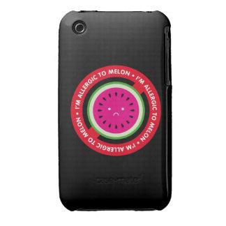 ¡Soy alérgico al melón! Alergia del melón Case-Mate iPhone 3 Carcasas