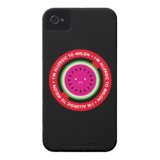 ¡Soy alérgico al melón! Alergia del melón iPhone 4 Case-Mate Carcasas