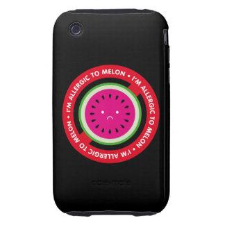 ¡Soy alérgico al melón! Alergia del melón Tough iPhone 3 Fundas