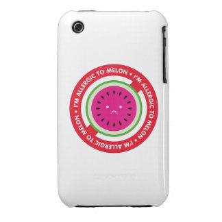 ¡Soy alérgico al melón! Alergia del melón Case-Mate iPhone 3 Coberturas