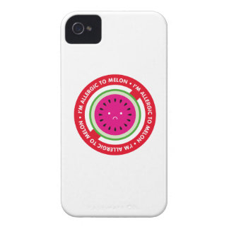 ¡Soy alérgico al melón! Alergia del melón Case-Mate iPhone 4 Protectores