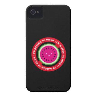 ¡Soy alérgico al melón! Alergia del melón iPhone 4 Case-Mate Fundas