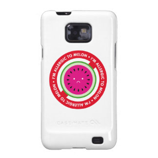 ¡Soy alérgico al melón! Alergia del melón Samsung Galaxy S2 Fundas