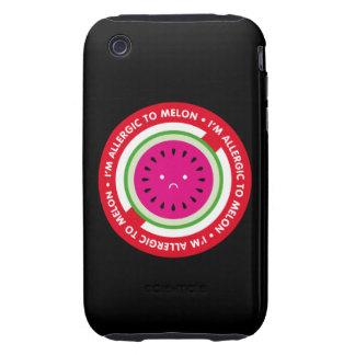 ¡Soy alérgico al melón! Alergia del melón iPhone 3 Tough Protector